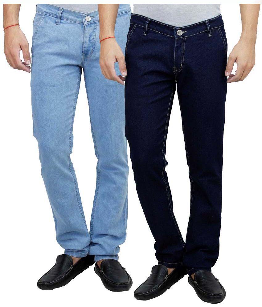 D-Rock Multi Slim Fit Solid Jeans