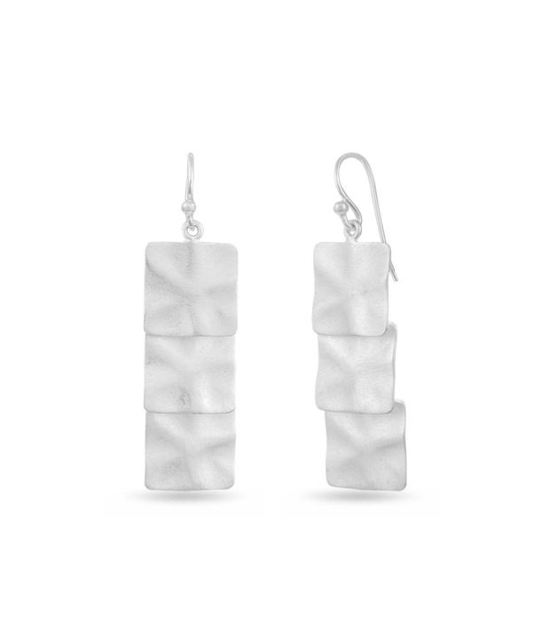 LeCalla Silver Alloy Hanging Earrings