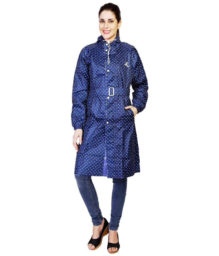 Zeel Blue Polyester Raincoat