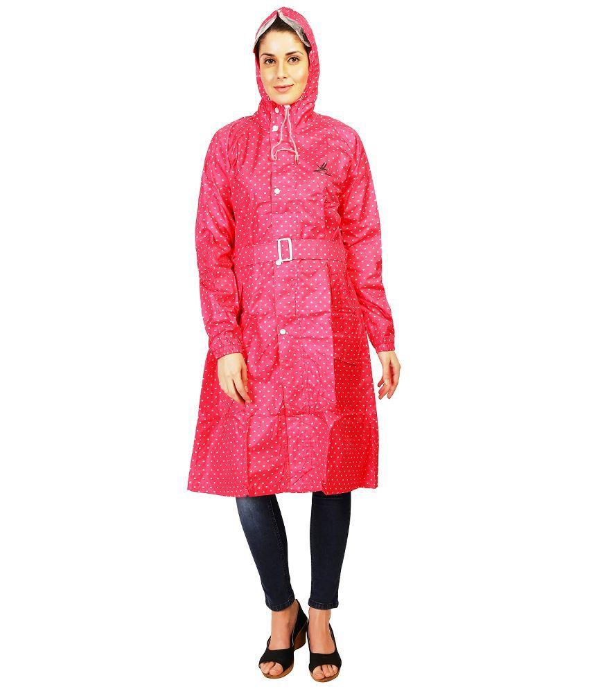 Zeel Pink Polyester Raincoat