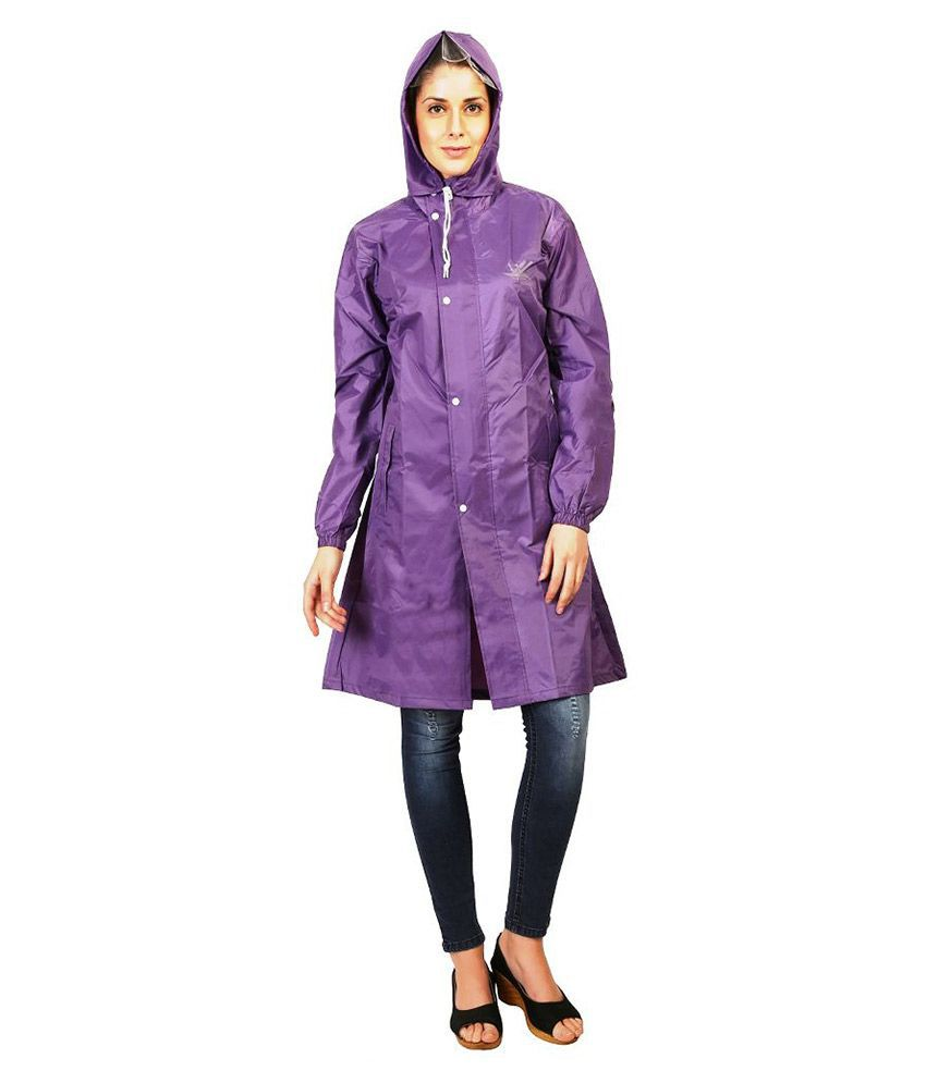 Zeel Purple Short Raincoat