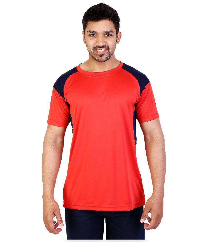 obvio Red Round T Shirt