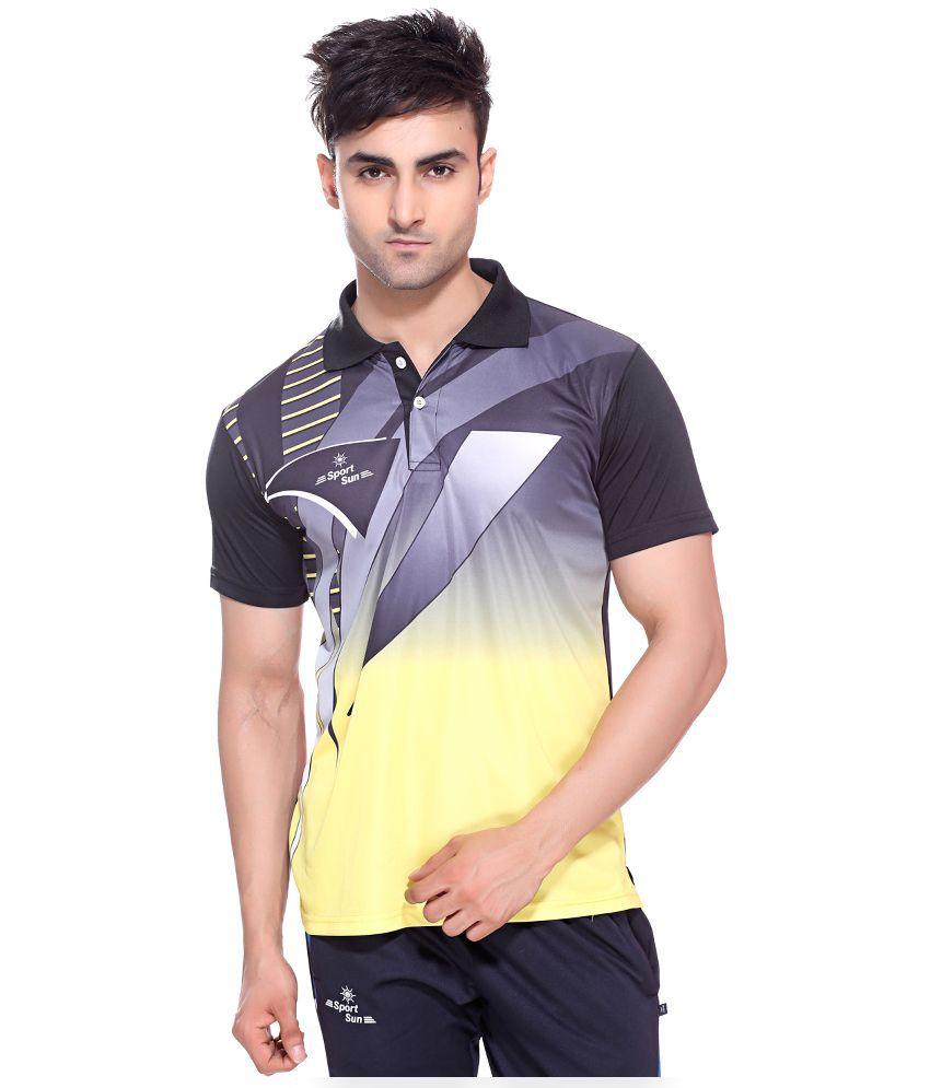 Sport Sun Multicolor Sportswear Polo T-Shirt for Men