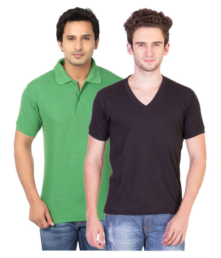 BrandTrendz Multi V-Neck T Shirt Pack of 2