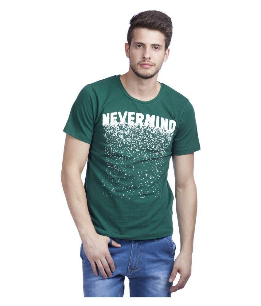 Dracht Green Round T Shirt