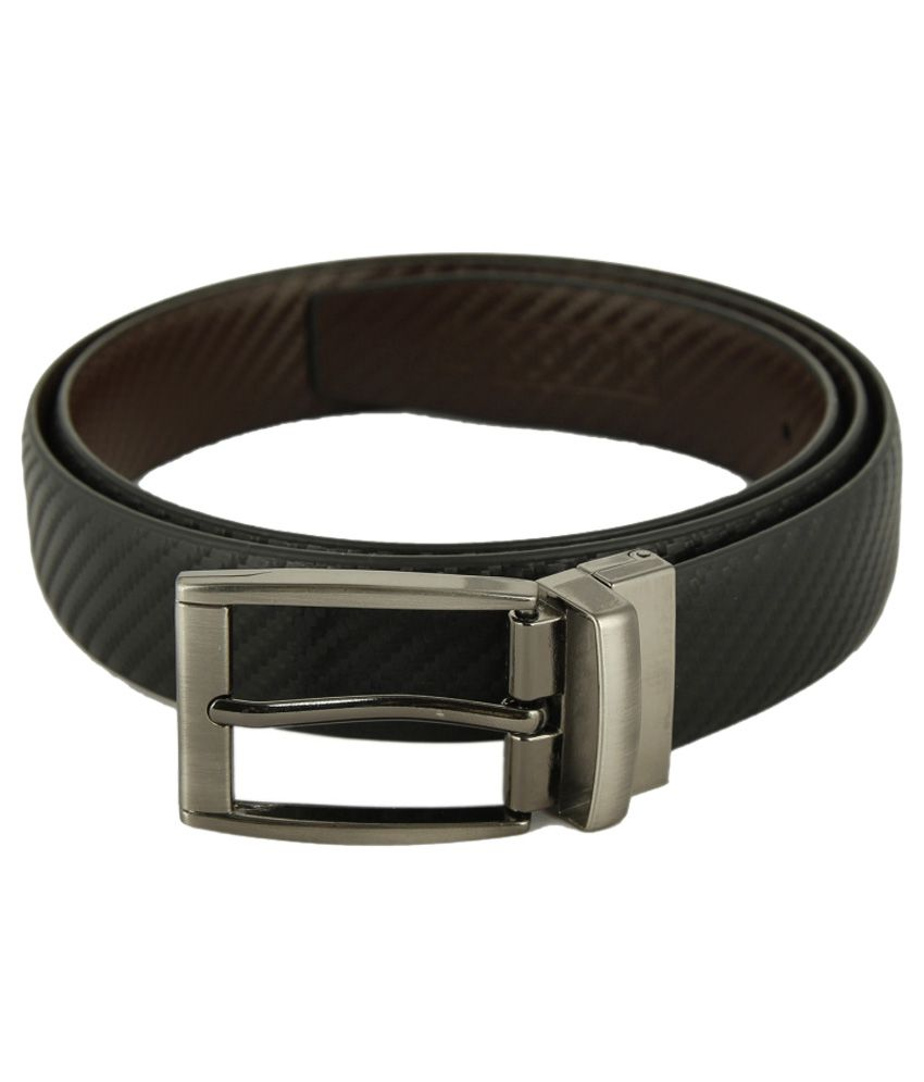 Kesari Black and brown Non Leather Belt