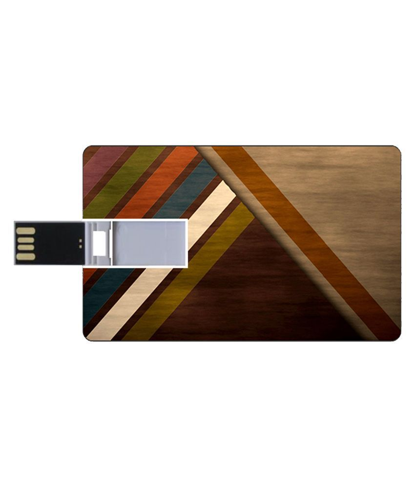 Youberry Credit Card Size 16 GB Pen Drives Multicolour