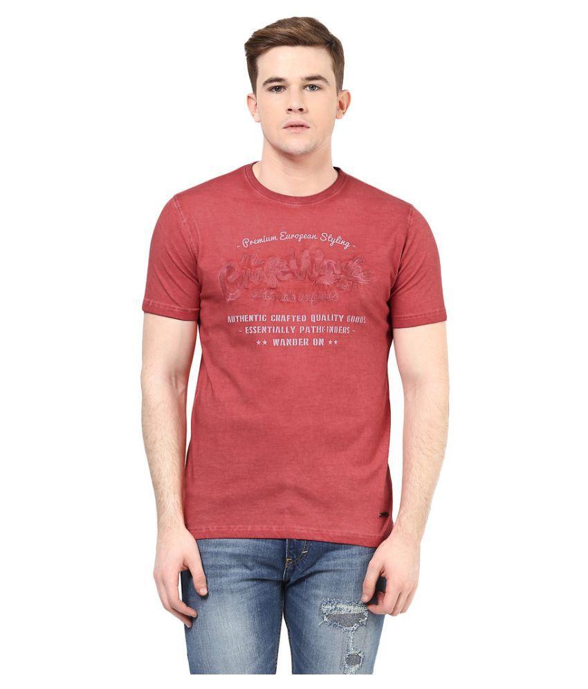 Elaborado Red Round T Shirt