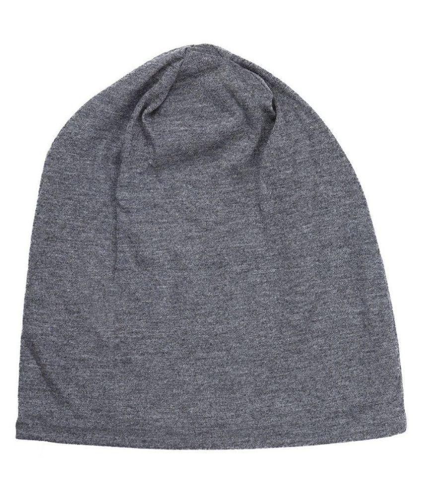 582f880c8 Gajraj Grey Cotton Beanies Cap