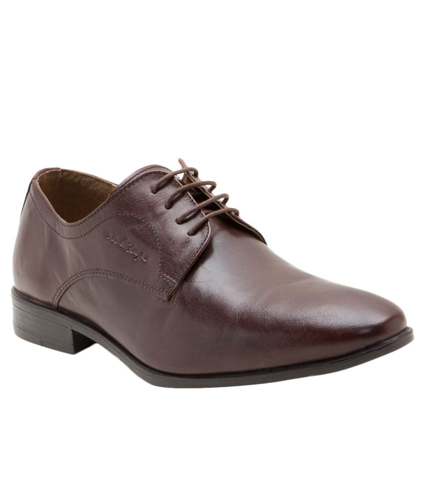 Red Tape Brown Derby Genuine Leather Formal Shoes Price in ...