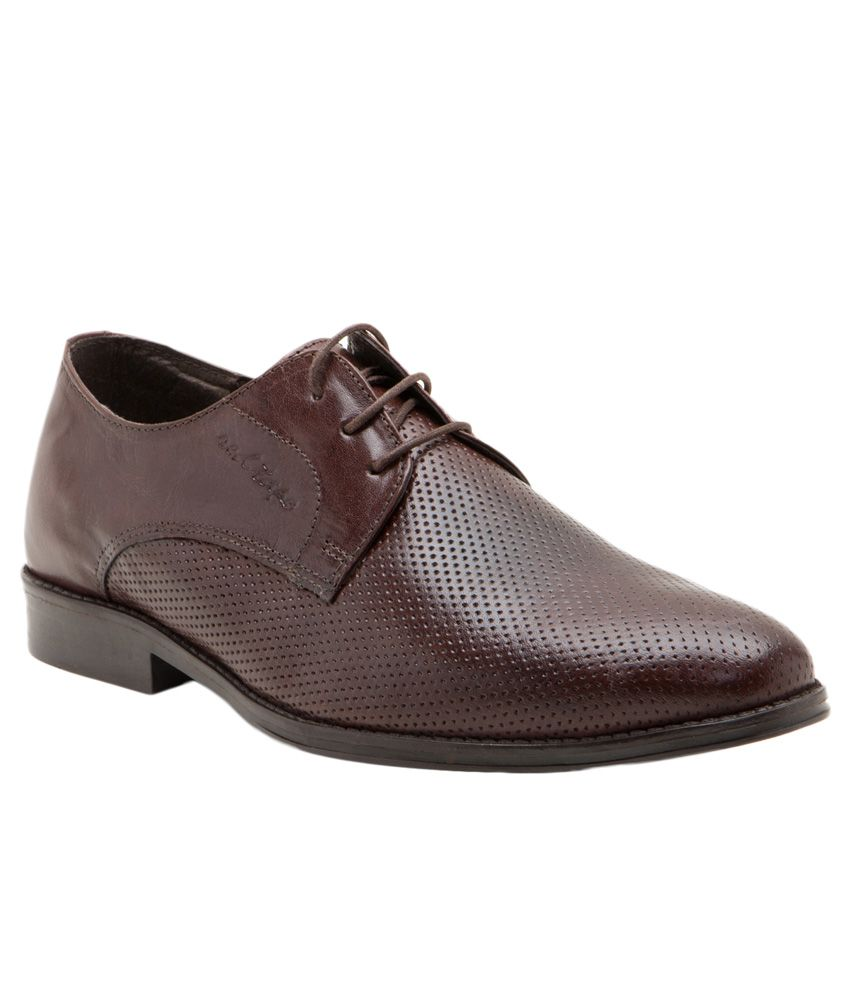 Red Tape Brown Derby Formal Shoes