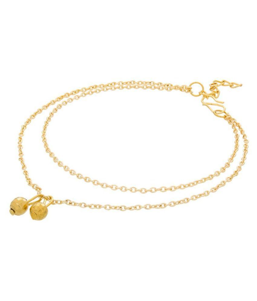 The Luxor Alloy Gold Plating Gold Coloured Single Anklet
