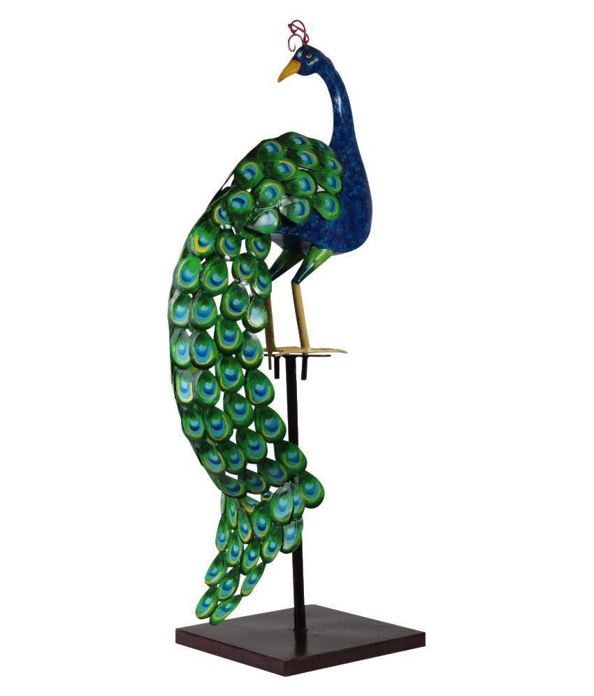 ... Wonderland Green And Blue Peacock Garden Decor ...
