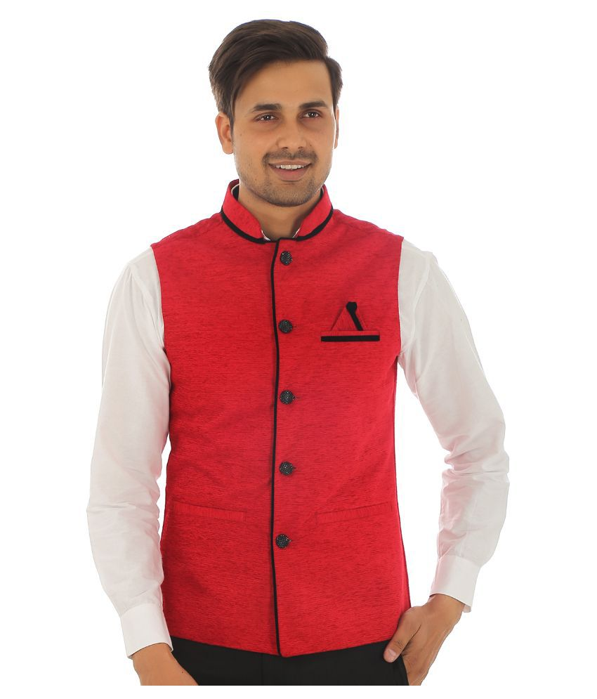 Zuricch Red Party Waistcoats