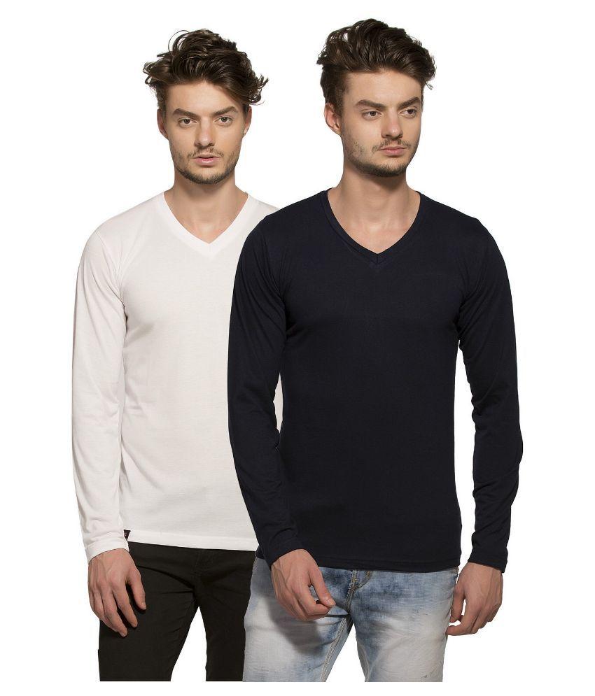 Alan Jones Clothing Multi V-Neck T Shirt - Pack Of 2