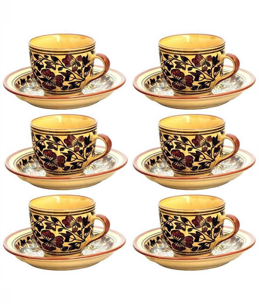 4f82460ae5 Craftghar Multicolour Tea Cup Set - Set of 6: Buy Online at Best Price in  India - Snapdeal