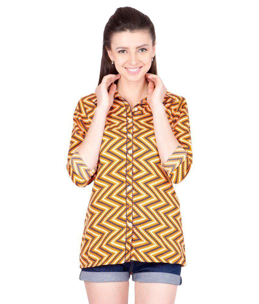 Crosstitch Multi Color Poly Crepe Shirts