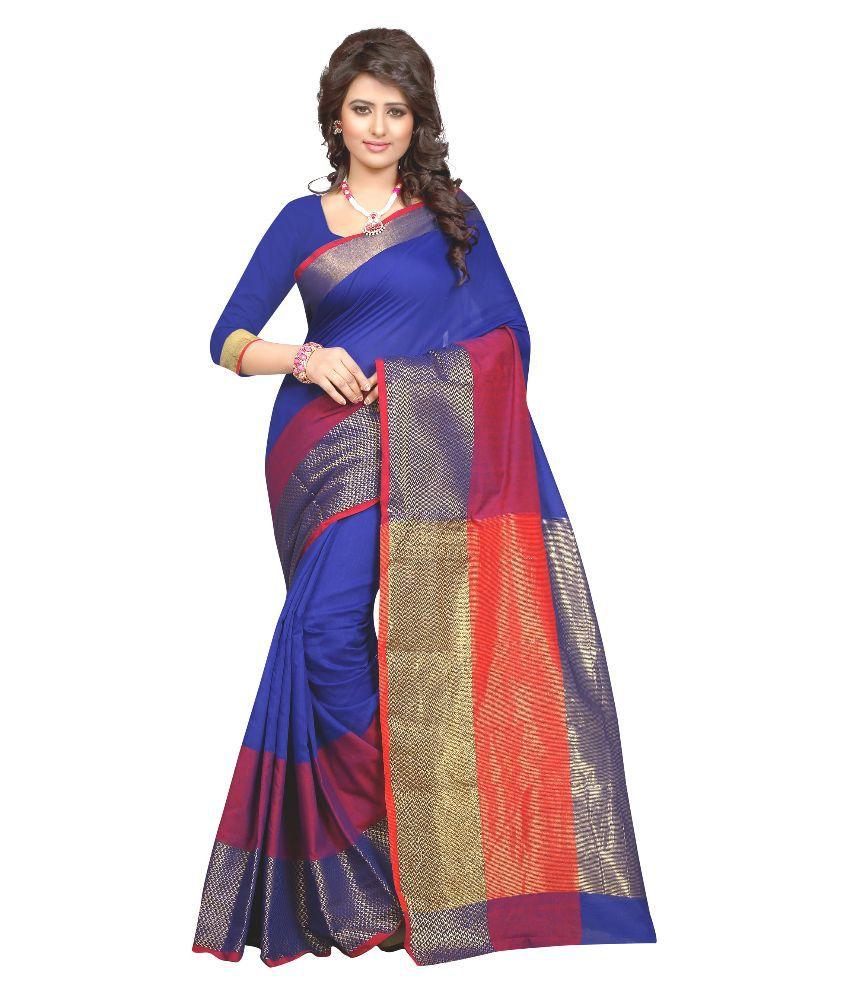 Great Villa Blue Tussar Silk Saree