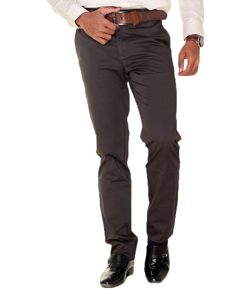 TMG Textiles and Garments Black Regular Fit Flat Trousers
