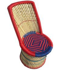Ecowoodies Multicolor Cane Straight Back Chair