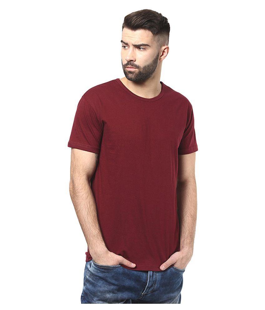 Alif Paki Maroon Round T Shirt