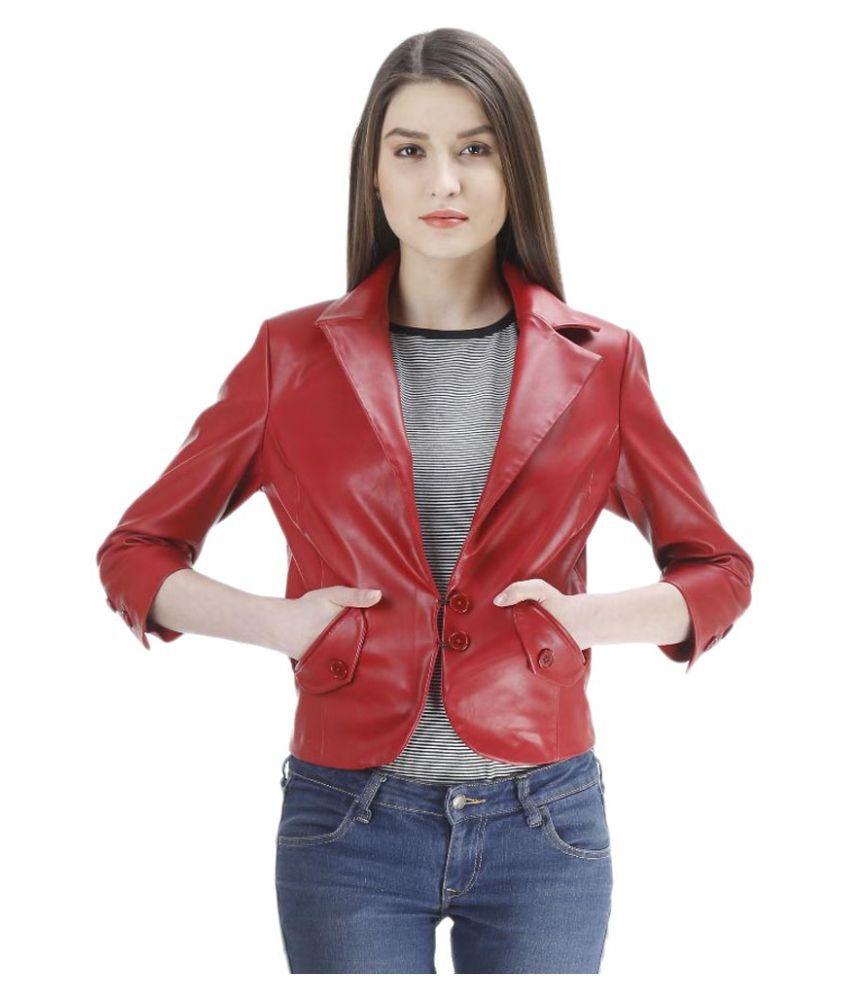 Launcher Maroon Coat For Girls
