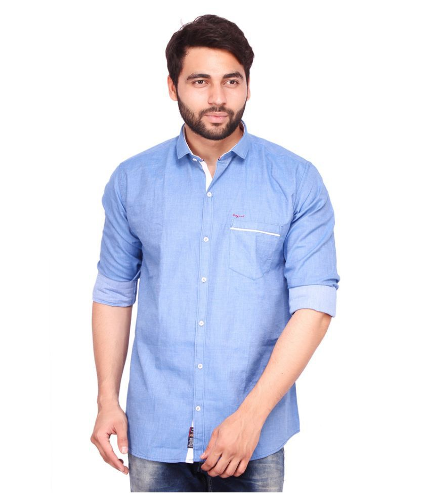 RKF Blue Casuals Slim Fit Shirt
