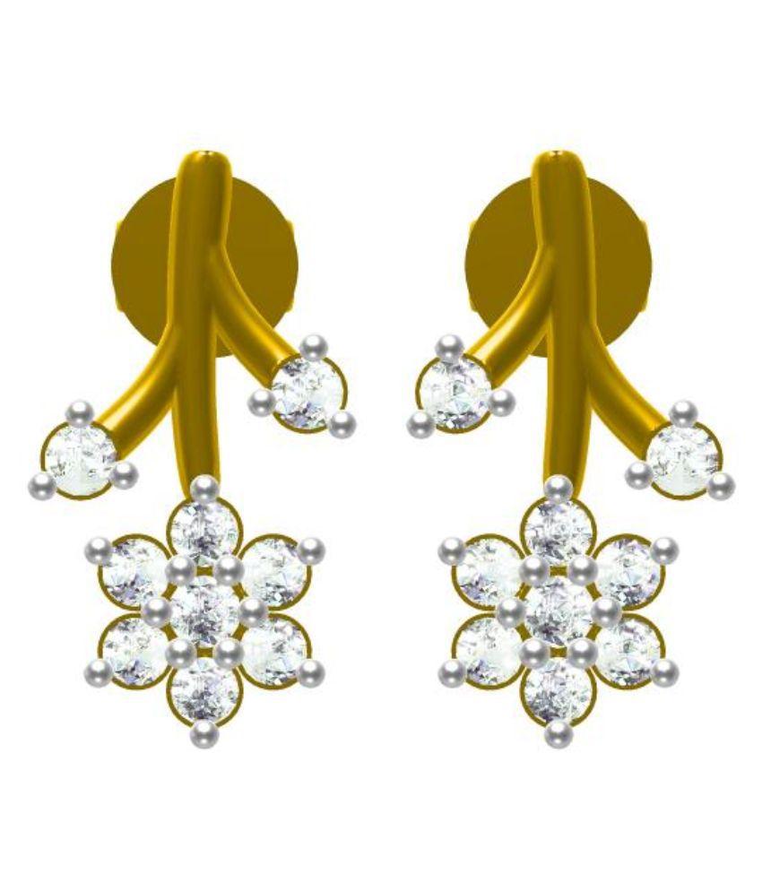 Sakshi Jewels 14kt Gold BIS Hallmarked Hanging Earings