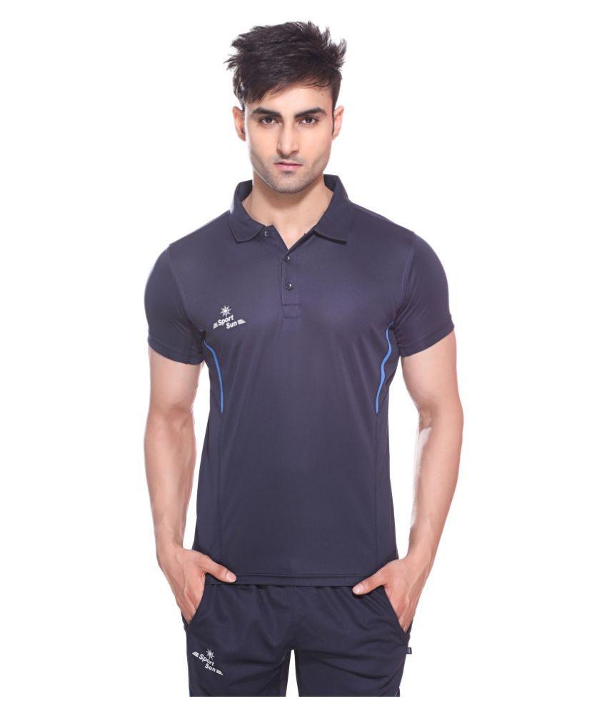 Sport Sun Navy Polyster Active Wear For Men