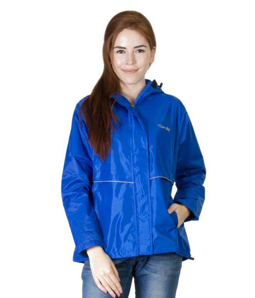 Burdy Blue Short Raincoat