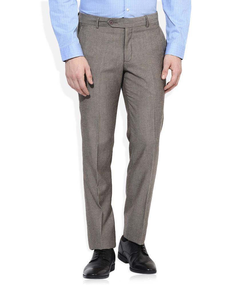 John Players Grey Formals Trouser