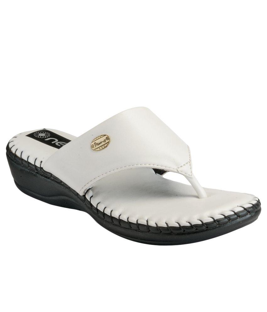 Nell White Slip-Ons