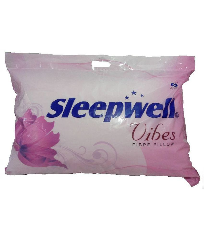 sleepwell vibes white cotton pillow pack of 2 buy sleepwell vibes
