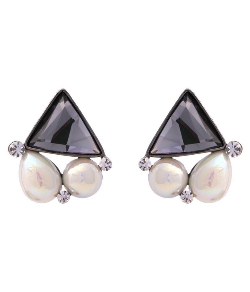 Abhijewels Stones and Pearls Studded Designer Party Wear Studs Earrings