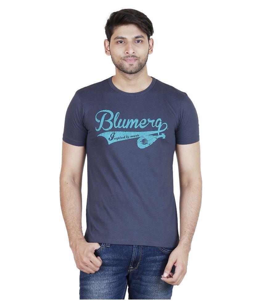 Blumerq Navy Round T Shirt