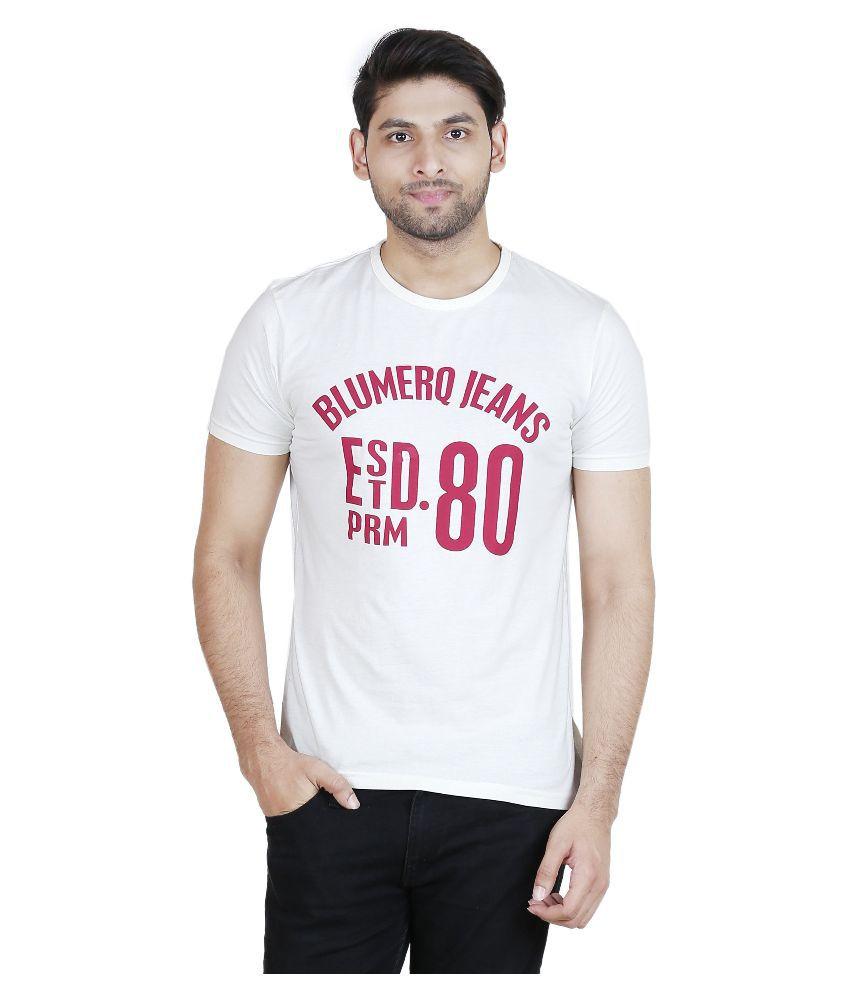 Blumerq White Round T Shirt