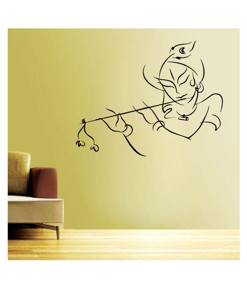 Impression Wall Textured PVC Shree Krishna Wall Sticker - Buy ...