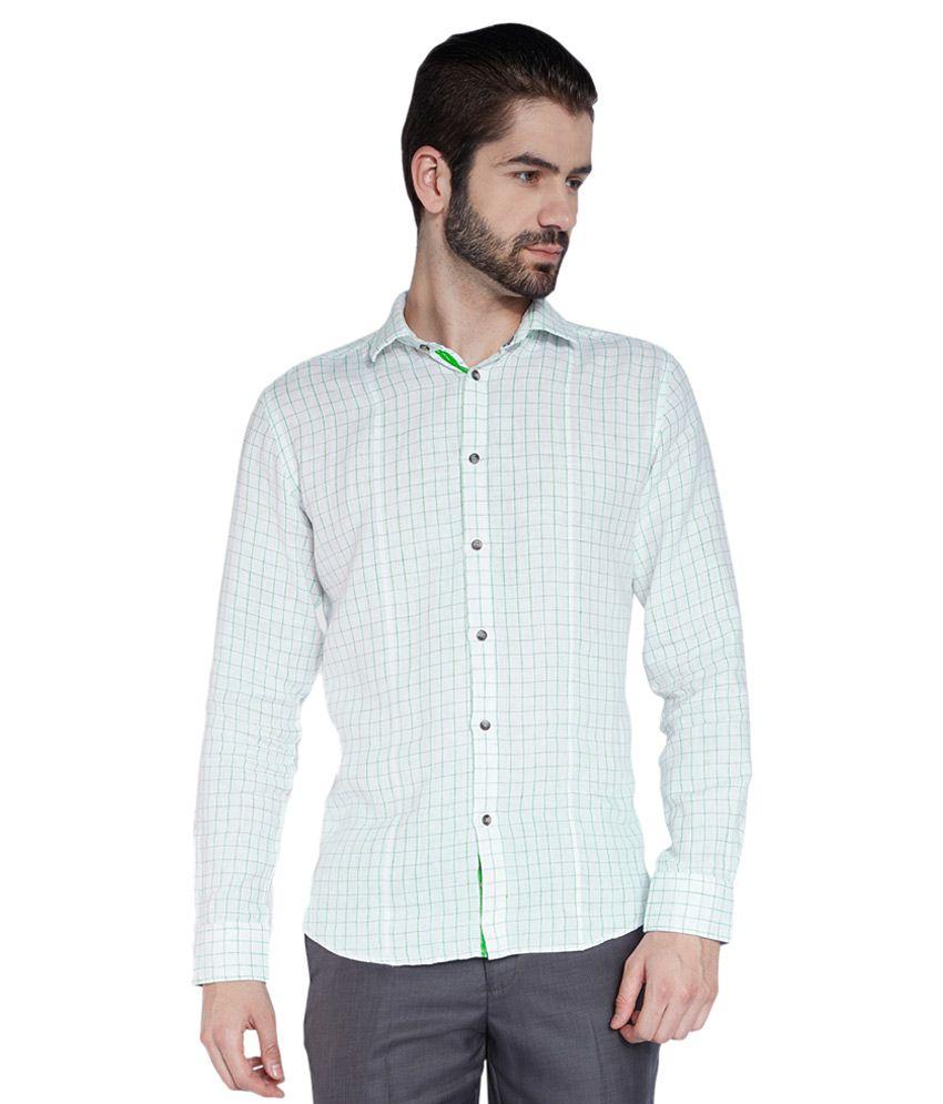 Park Avenue White Formal Slim Fit Shirt