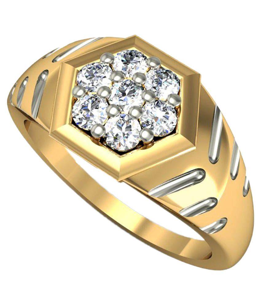 Rasav Jewels 14kt Gold Diamonds Ring