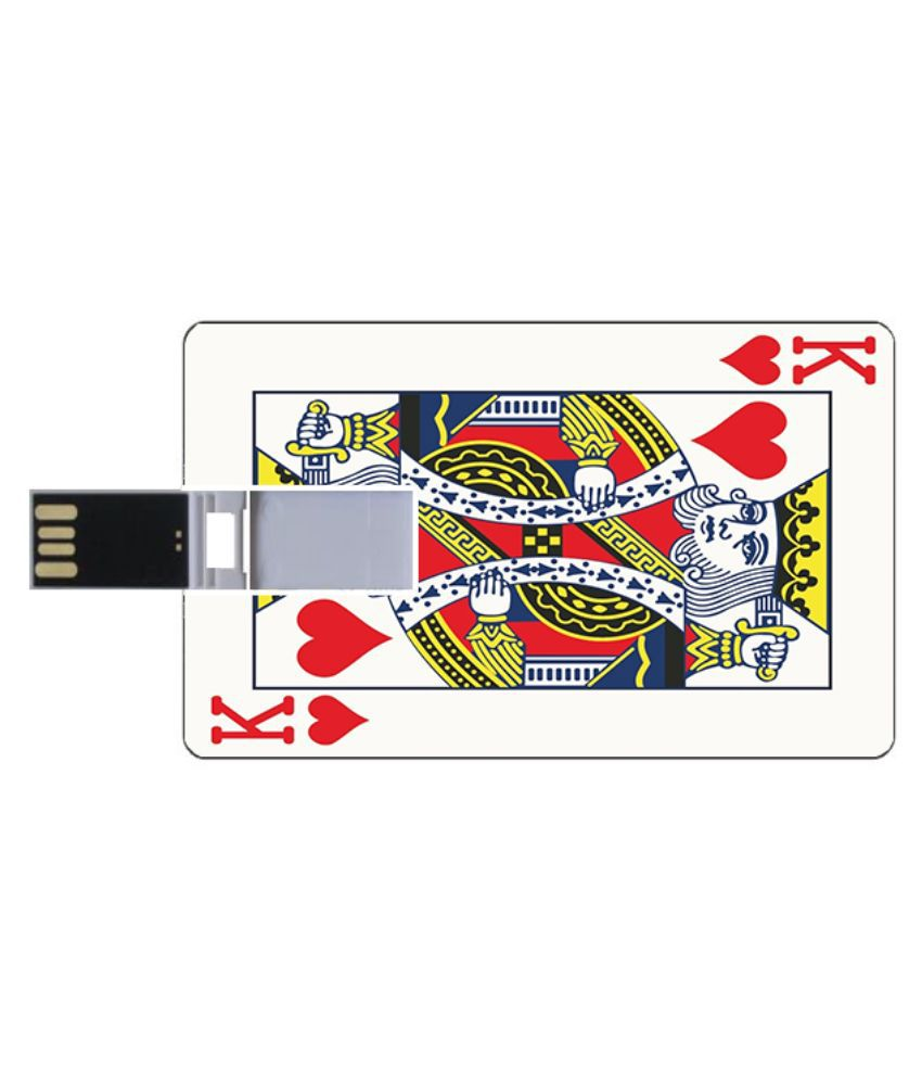 Youberry Credit Card Shape and Size 8 GB Pen Drives Multicolour