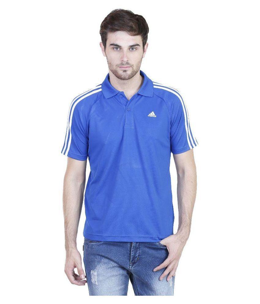 Adidas Blue Polo T Shirts