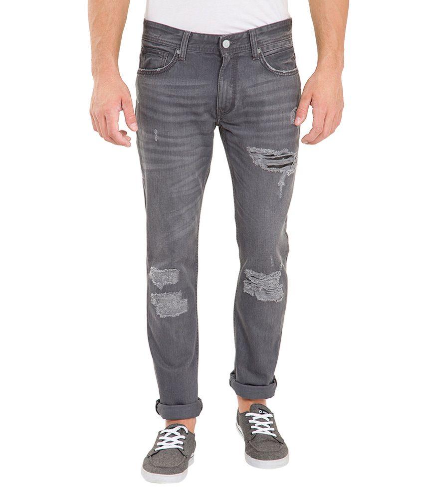 Locomotive Grey Regular Fit Jeans