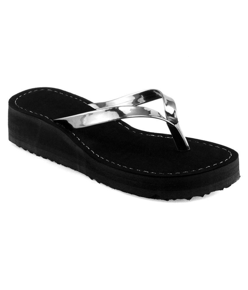 Sierra Club Black Flip Flops