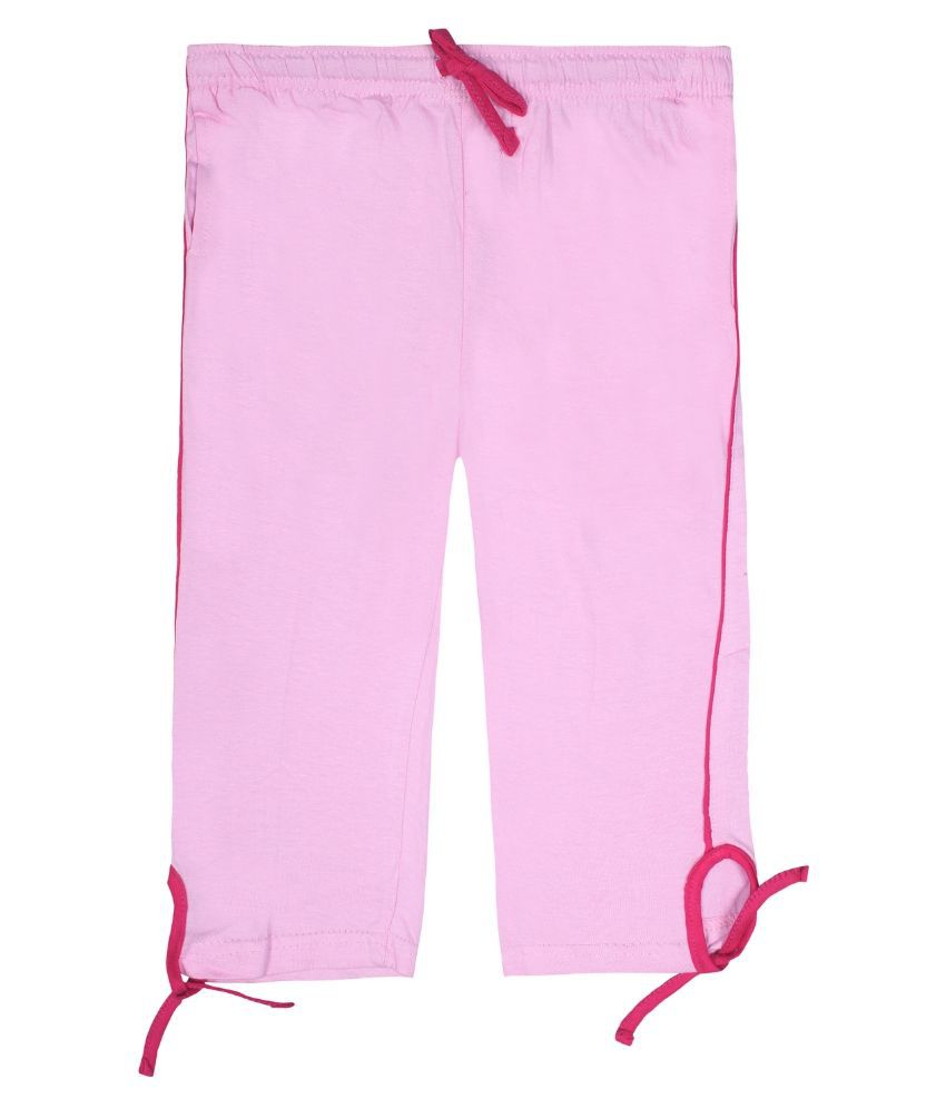 Jazzup Pink Cotton Capri