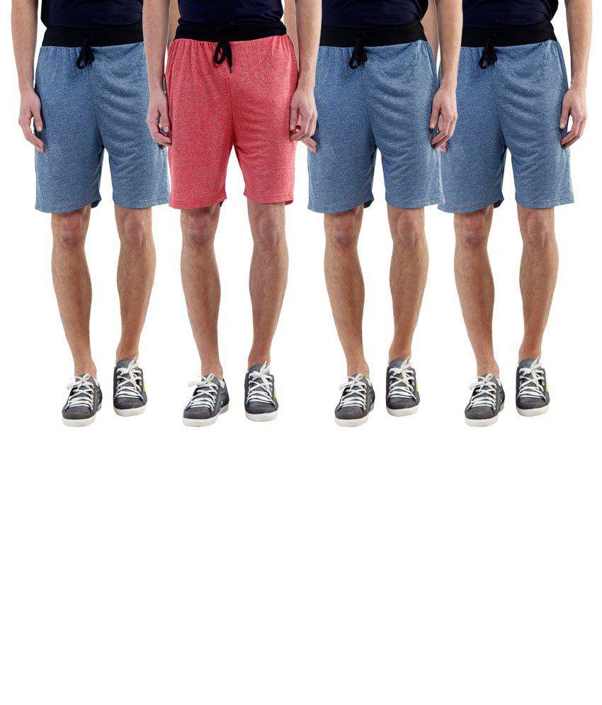 Billu Oye Blue Shorts Pack of 4