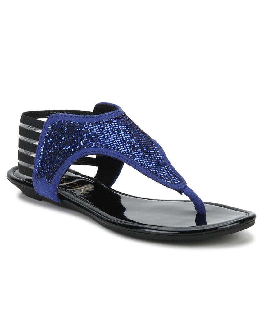 Catwalk Blue Flat Sandals buy cheap excellent cIUfgM