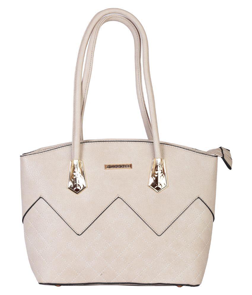 Esbeda Beige Synthetic Shoulder Bag