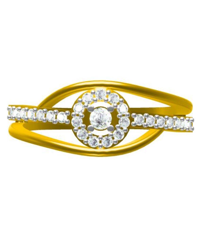 Sakshi Jewels 14Kt Golden Diamond Ring