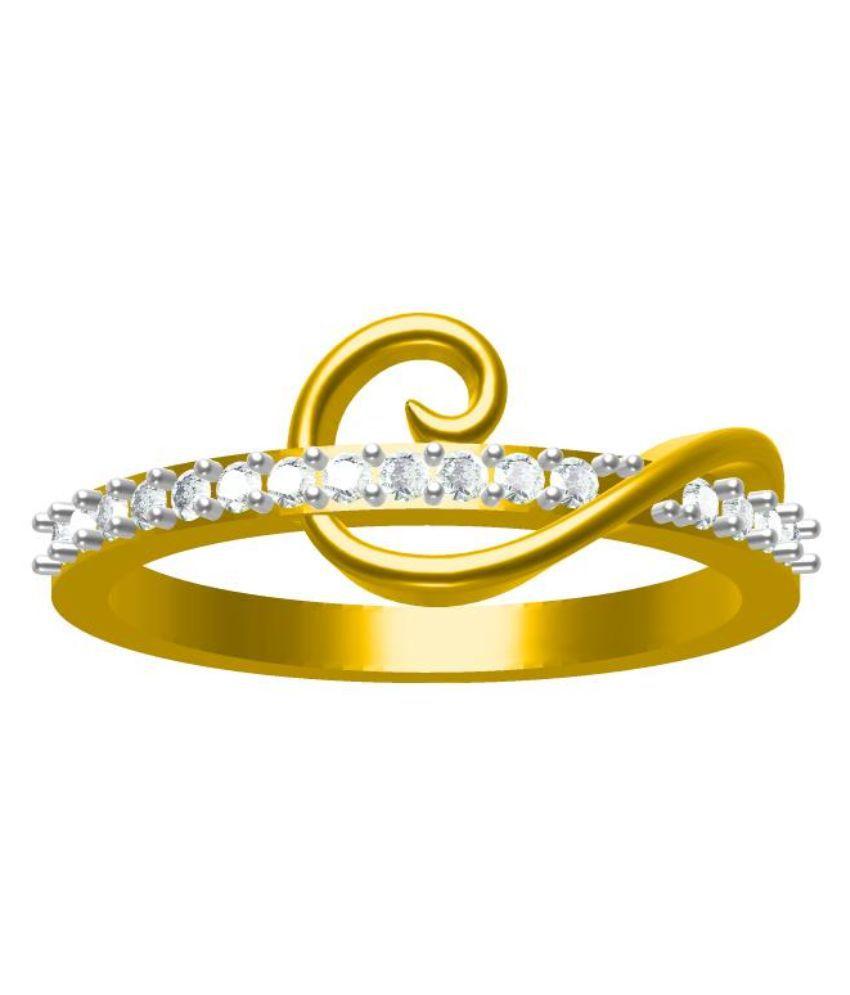 Sakshi Jewels Golden 14kt Gold Ring