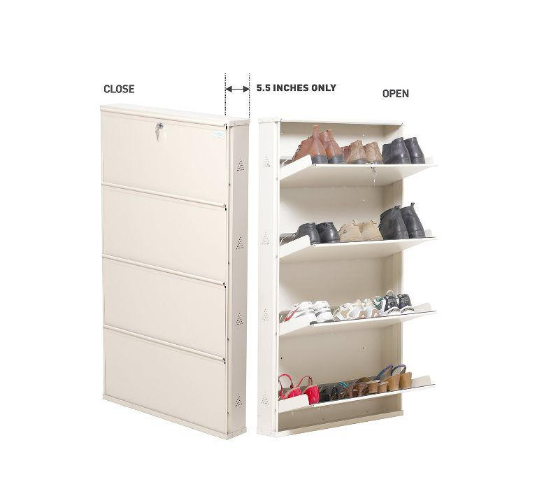 Shoe Rack 4 Tier Metal Stand With